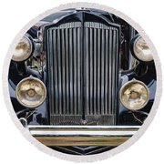 1937 Packard Super 8 Round Beach Towel
