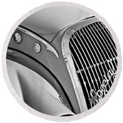 1937 Peugeot 402 Darl'mat Legere Special Sport Roadster Recreation Grille Emblem Round Beach Towel