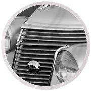 1937 Studebaker Grille  Round Beach Towel