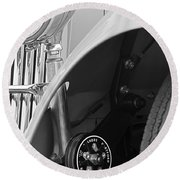 1939 Aston Martin 15-98 Abbey Coachworks Swb Sports Suspension Control Round Beach Towel