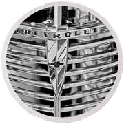 1939 Chevrolet Coupe Grille Emblem  Round Beach Towel