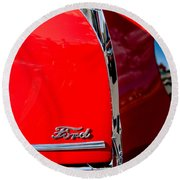 1939 Ford Grille Round Beach Towel