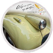 1940 Buick 41c Round Beach Towel