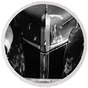 1940s Ford Grill Round Beach Towel