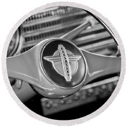 1941 Chevrolet Steering Wheel Emblem Round Beach Towel