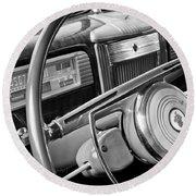 1941 Packard Steering Wheel Round Beach Towel