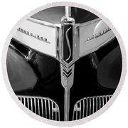 1941 Studebaker Champion Hood Emblem Round Beach Towel