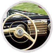 1942 Lincoln Round Beach Towel