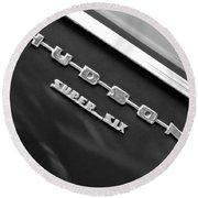 1946 Hudson Big Boy Super Six Pickup Truck Emblem Round Beach Towel