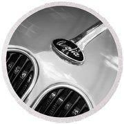 1948 Anglia Grille Emblem -510c Round Beach Towel