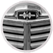 1948 International Hood Emblem Round Beach Towel