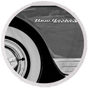 1950 Chrysler New Yorker Coupe Wheel Emblem Round Beach Towel