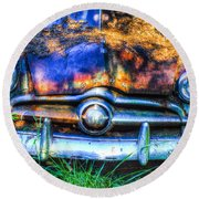 1950 Ford To Be Reconditioned Round Beach Towel