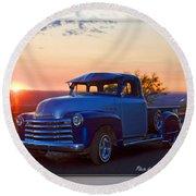1951 Chevy Pick Up Round Beach Towel