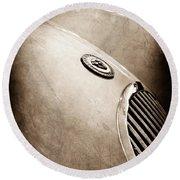 1951 Jaguar Grille Emblem Round Beach Towel
