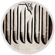 1951 Mercury Custom Emblem Round Beach Towel