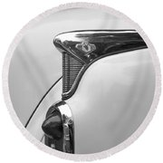 1952 Buick Eight Tail Light Round Beach Towel