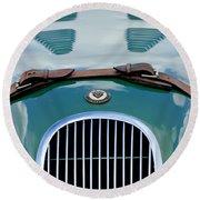 1952 Jaguar Xk 120 John May Speciale Grille Emblem Round Beach Towel