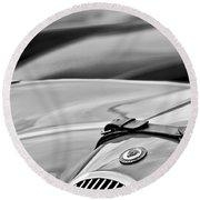 1952 Jaguar Xk 120 John May Speciale Hood Emblem Round Beach Towel
