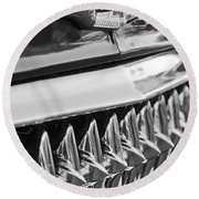 1953 Chevrolet Grille Emblem Round Beach Towel