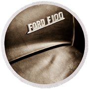 1953 Ford F-100 Pickup Truck Emblem Round Beach Towel