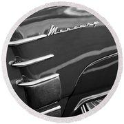 1953 Mercury Monterey Wheel Emblem Round Beach Towel
