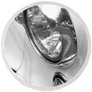 1955 Buick Special Headlight Round Beach Towel