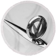 1955 Buick Special Hood Ornament Round Beach Towel
