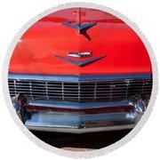 1956 Chevrolet Belair Convertible Custom V8 Round Beach Towel