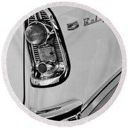 1956 Chevrolet Belair Taillight Emblem Round Beach Towel
