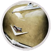1956 Chevrolet Hood Ornament - Emblem Round Beach Towel