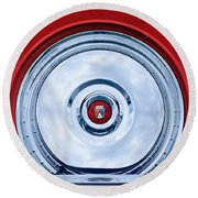 1956 Ford Thunderbird Spare Tire Emblem Round Beach Towel
