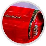 1956 Ford Thunderbird Taillight Emblem Round Beach Towel