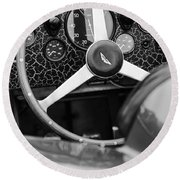 1957 Aston Martin Dbr2 Steering Wheel Round Beach Towel
