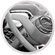 1957 Chevrolet Cameo Pickup Truck Steering Wheel Emblem Round Beach Towel