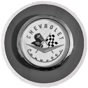 1957 Chevrolet Corvette Emblem Round Beach Towel