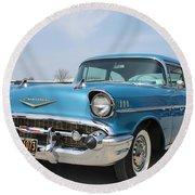 1957 Chevy Bel-air Round Beach Towel