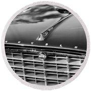 1957 Chrysler 300c Grille Emblem Round Beach Towel