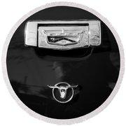 1957 Ford Custom 300 Series Ranchero Emblem Round Beach Towel