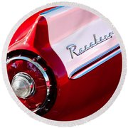 1957 Ford Custom 300 Series Ranchero Taillight Emblem Round Beach Towel