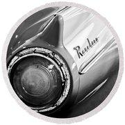 1957 Ford Ranchero Pickup Truck Taillight Round Beach Towel by Jill Reger