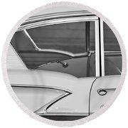 1958 Chevrolet Belair Round Beach Towel