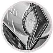 1958 Edsel Wagon Tail Light Round Beach Towel