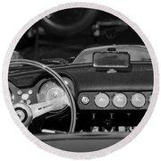 1958 Ferrari 250 Gt Lwb California Spider Steering Wheel Emblem -  Dashboard Round Beach Towel