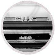 1958 Gmc Series 101-s Pickup Truck Grille Emblem Round Beach Towel