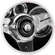 1958 Maserati Steering Wheel Emblem Round Beach Towel