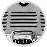 1959 Bmw 600 Isetta Emblem Round Beach Towel