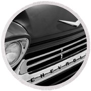 1959 Chevrolet Apache Front End Round Beach Towel