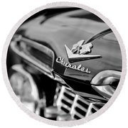 1959 Chevrolet Grille Emblem Round Beach Towel