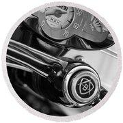 1959 Fiat Bianchina Semi-convertible Series II Steering Wheel Round Beach Towel